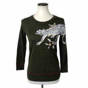 J.Crew Tippi Merino Wool Cheetah Sweater #166